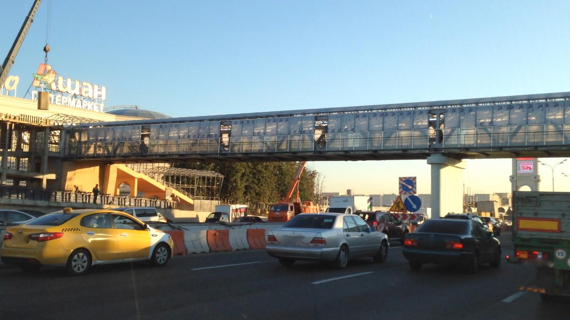Пешеходный мост через МКАД