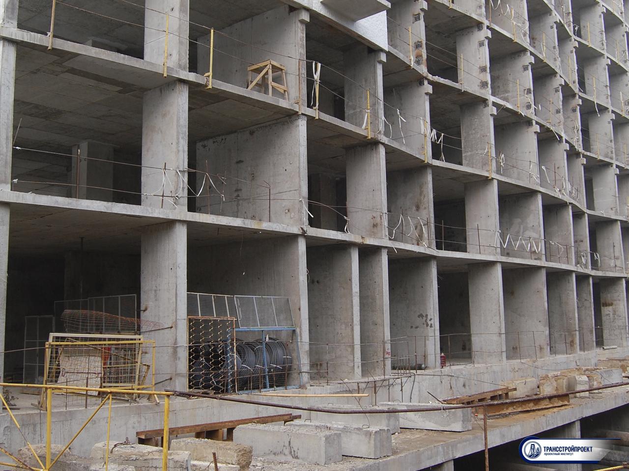 001_Испытание балкона в строящемся жилом доме
