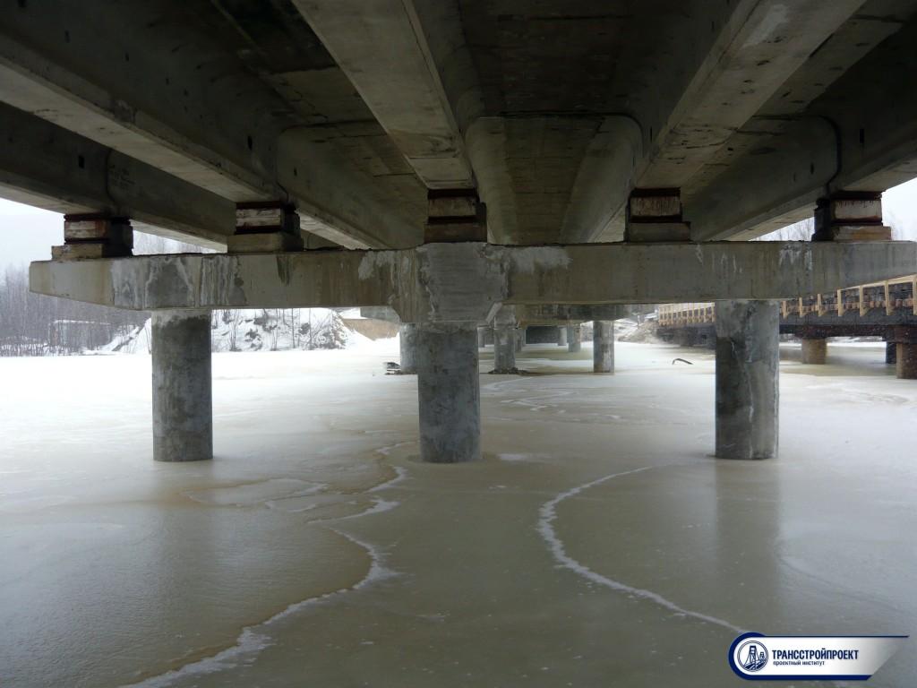 обследование опор моста