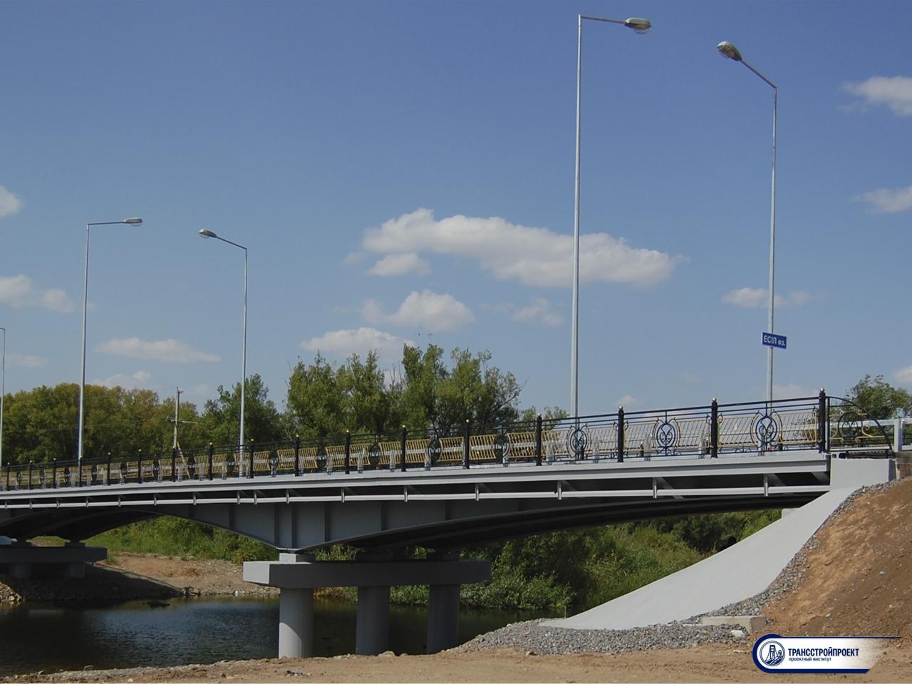 Металлическое неразрезное пролетное строение моста