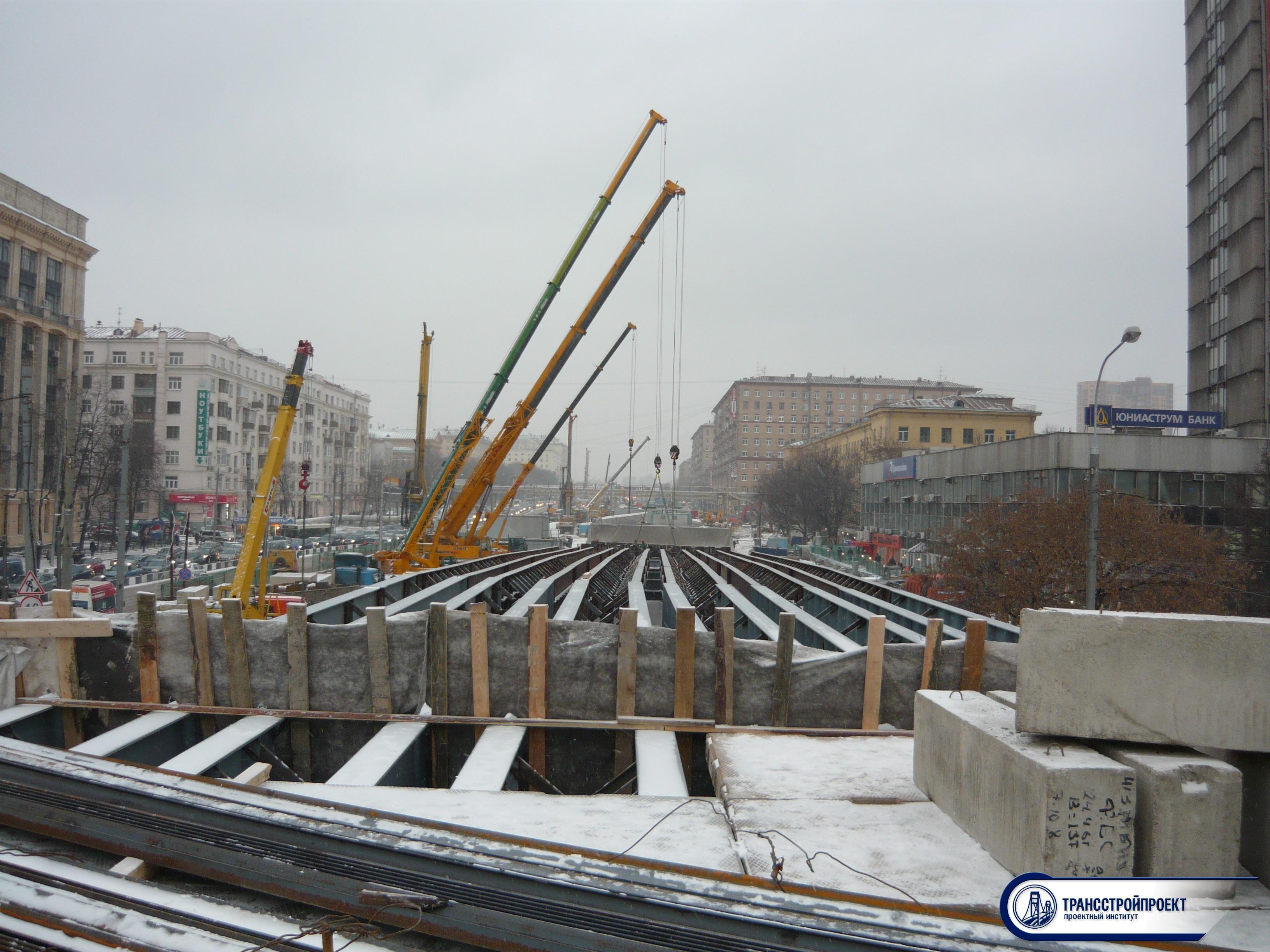 Временная автодорожная эстакада на развязке Ленинградского и Волокомамского ш