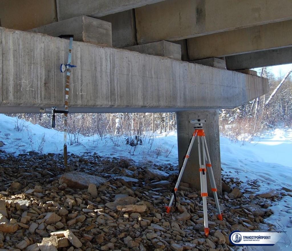 испытание опор моста