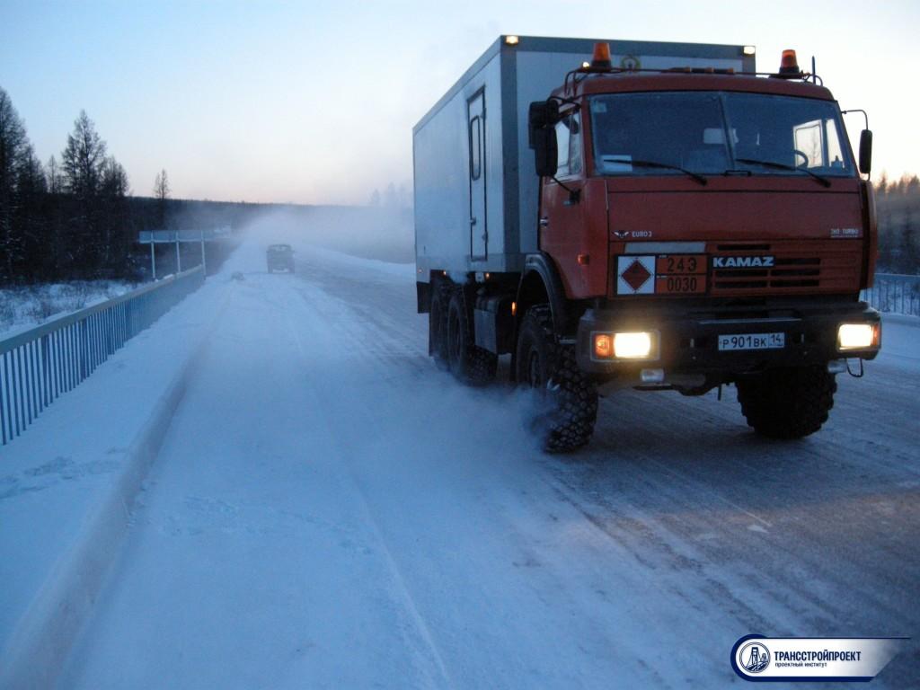 Мост на автодороге М-56. Якутия