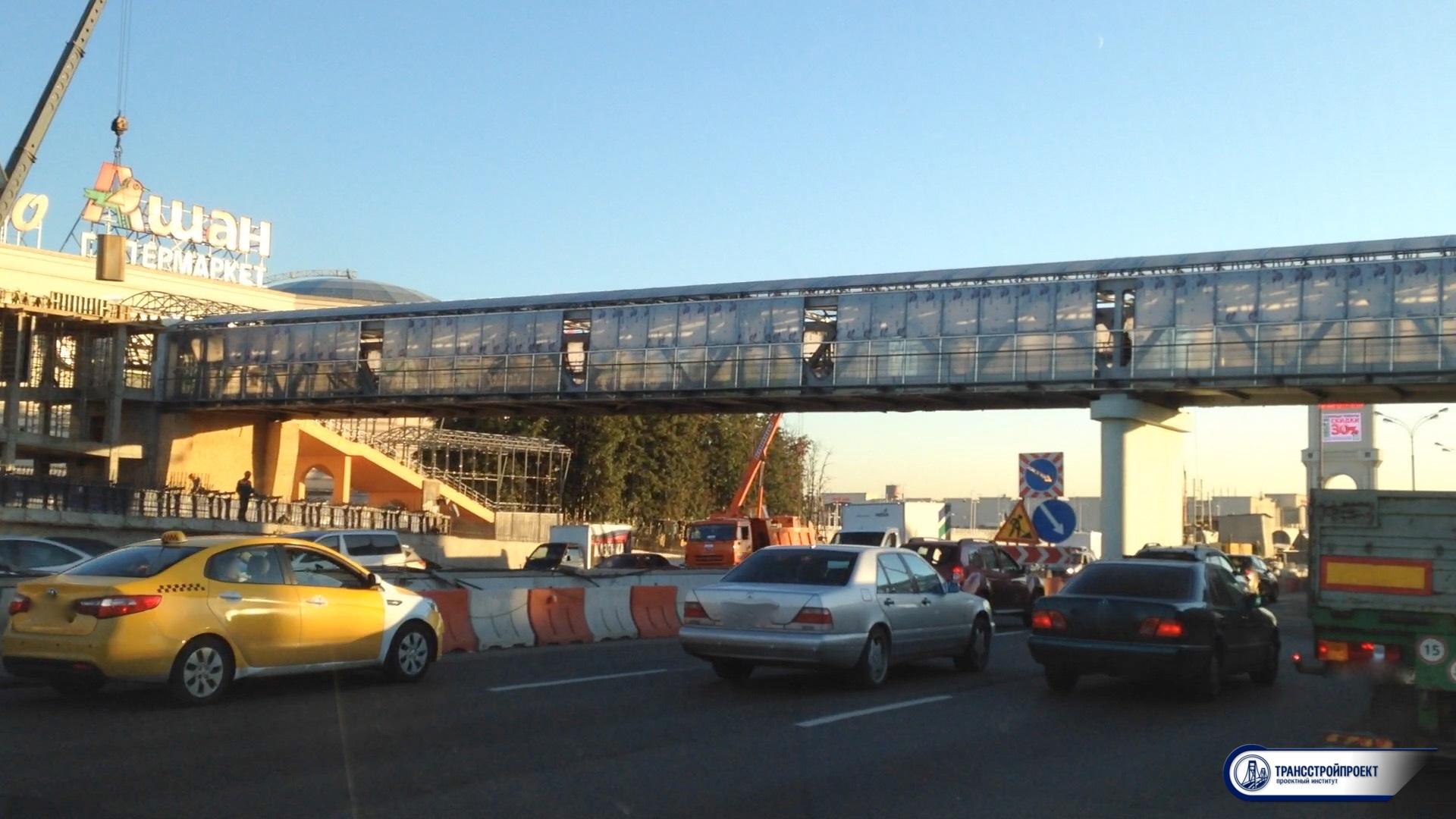 Пешеходный переход МКАД Вегас