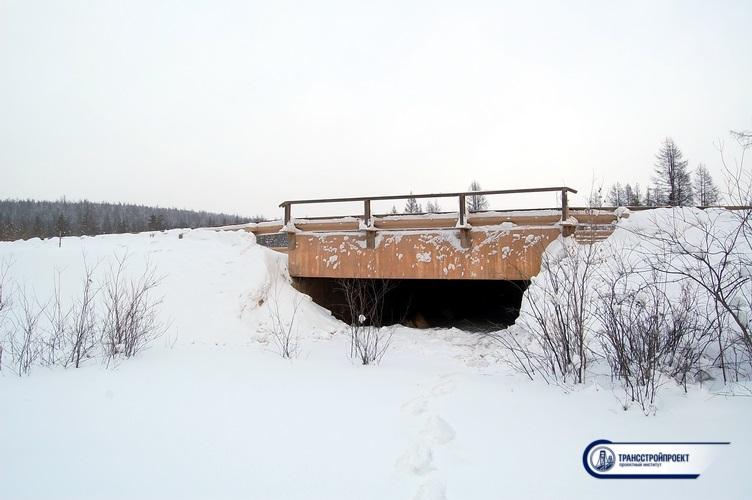 обследование моста в якутии (Саха)