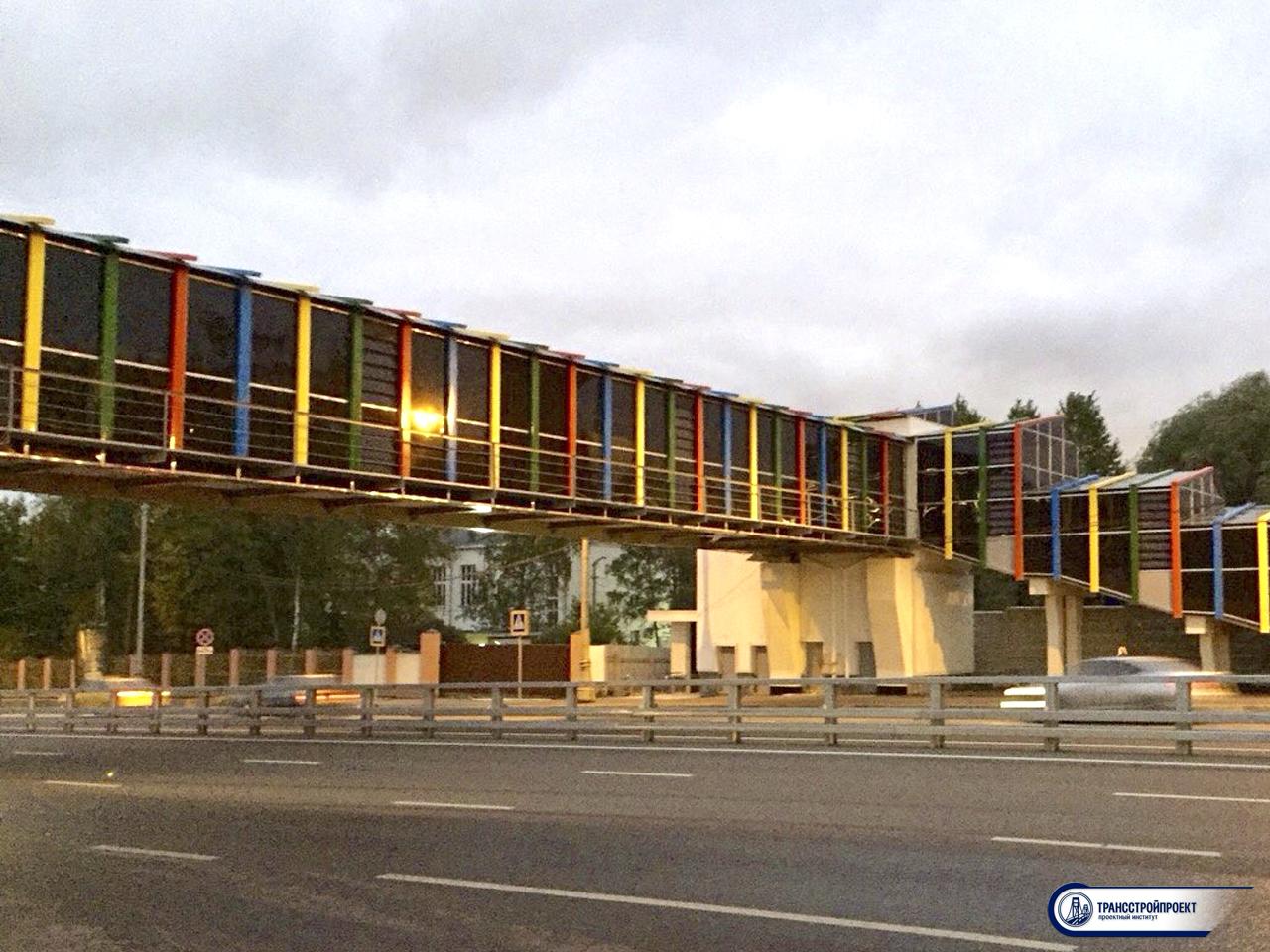 Пешеходный мост ул. Рябиновая